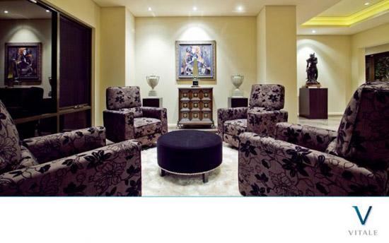 精心装饰的小型会客厅